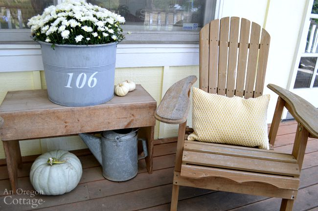 Repaint porch railings and enjoy your fall porch