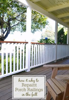 How and why to repaint your flaking porch railings in the fall.