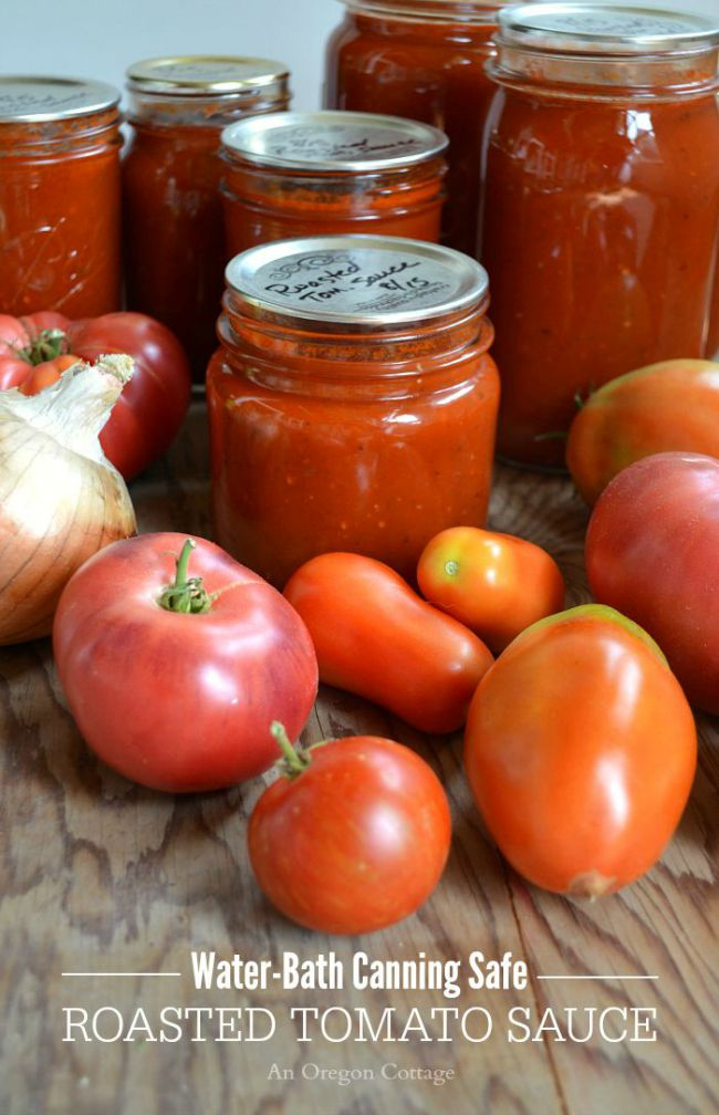 How to make an easy roasted tomato sauce that's safe to water-bath can and tastes amazing!