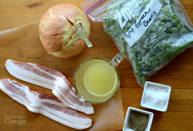 Long Cooked Green Bean recipe ingredients