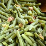 Long-cooked green beans