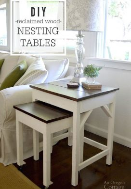 Make your own nesting tables with reclaimed wood.
