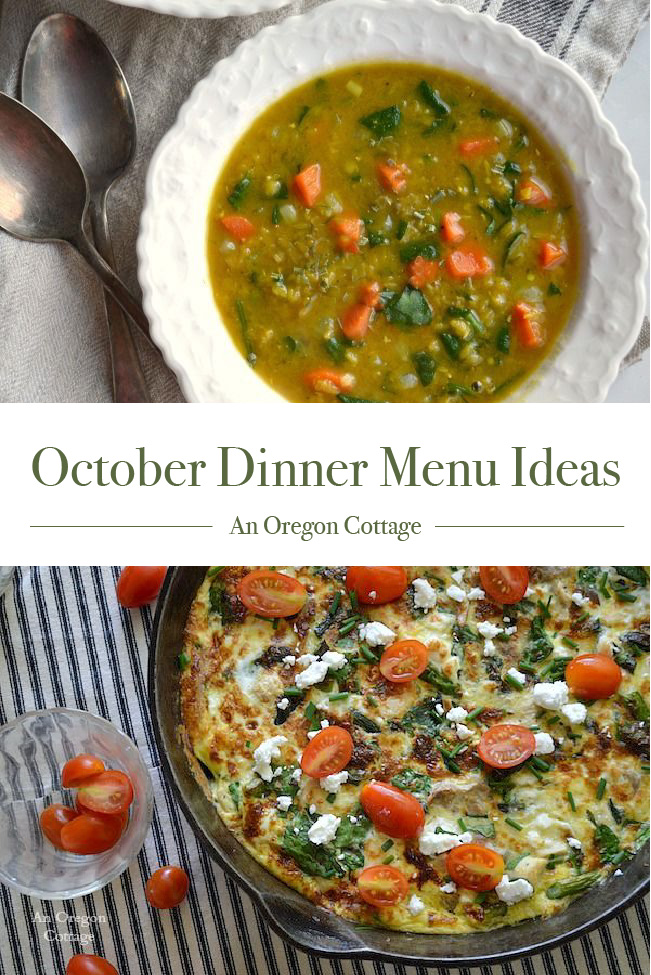 October Dinner Menu Ideas