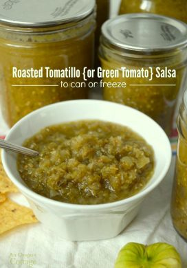 Roasted Tomatillo or Green Tomato Salsa pin