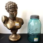 Thrifted bust and vintage jar