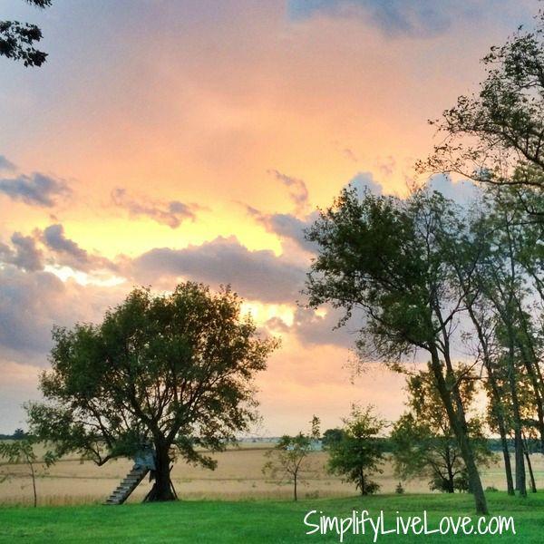 Sunset in Iowa from SimplifyLiveLove.com