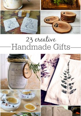 creative handmade gifts collage