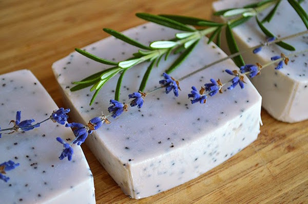 Lavender rosemary hand soap via Lovely Greens