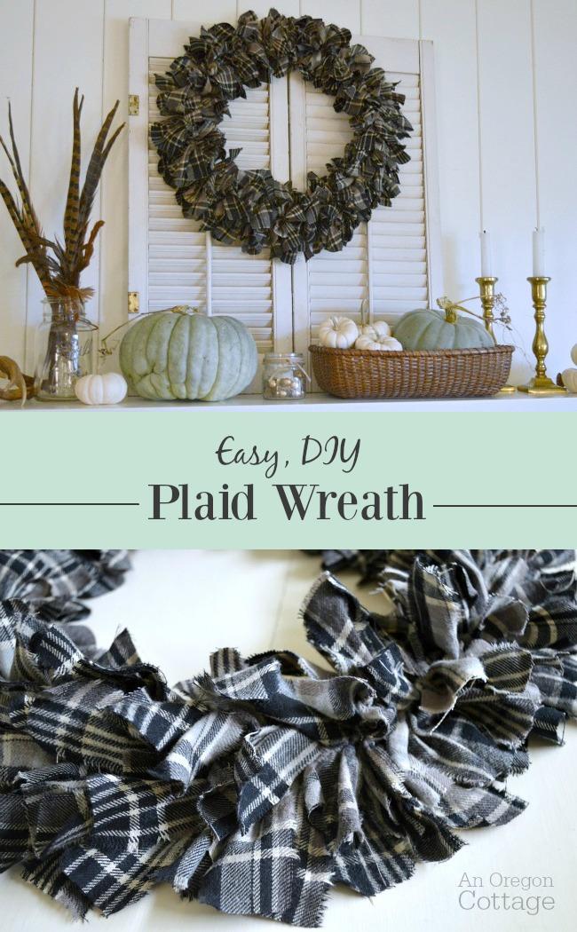 Make a cozy, DIY fall plaid wreath in just a few hours
