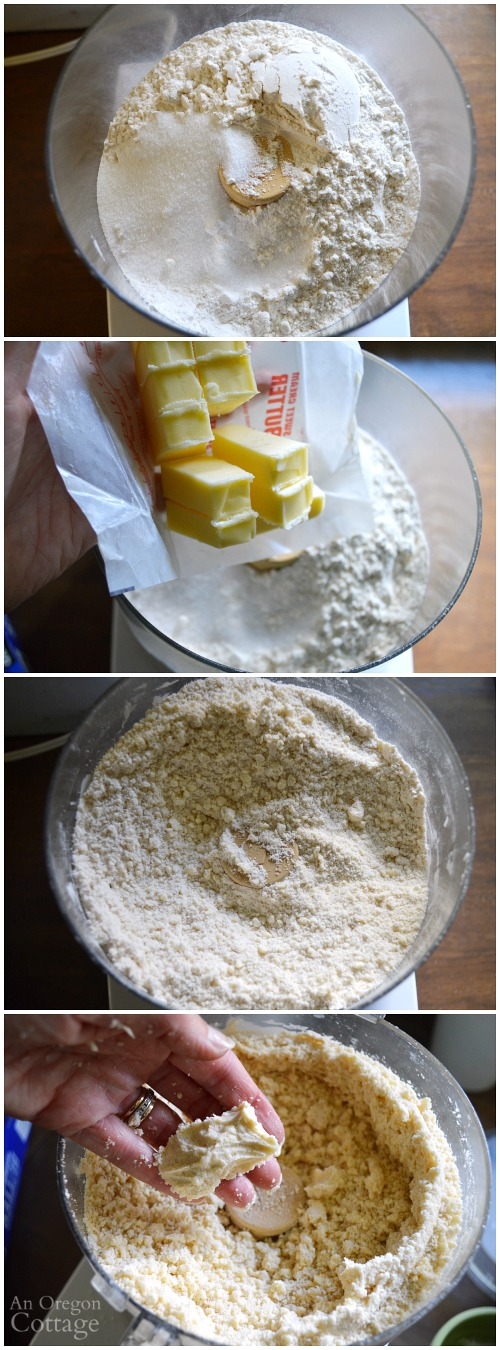 Making the best homemade pie crust-steps 1-4