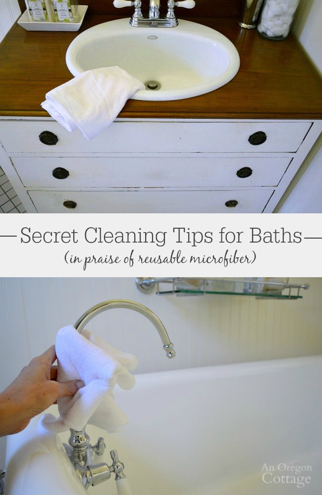Using these tips to clean your bathroom with microfiber is easy, green, and saves money