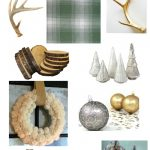 Green Plaid, Natural, Gold & Silver Christmas Decor Plan