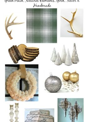 Christmas Plan for 2015: Green Plaid, Antlers, Wood, Gold and Silver