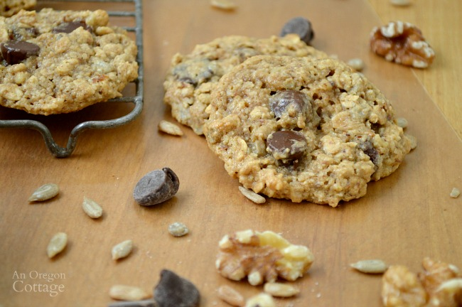 Chocolate Chip, Nut & Seed Oatmeal Cookies-Gluten-Free