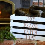 DIY Christmas Word Art Crate