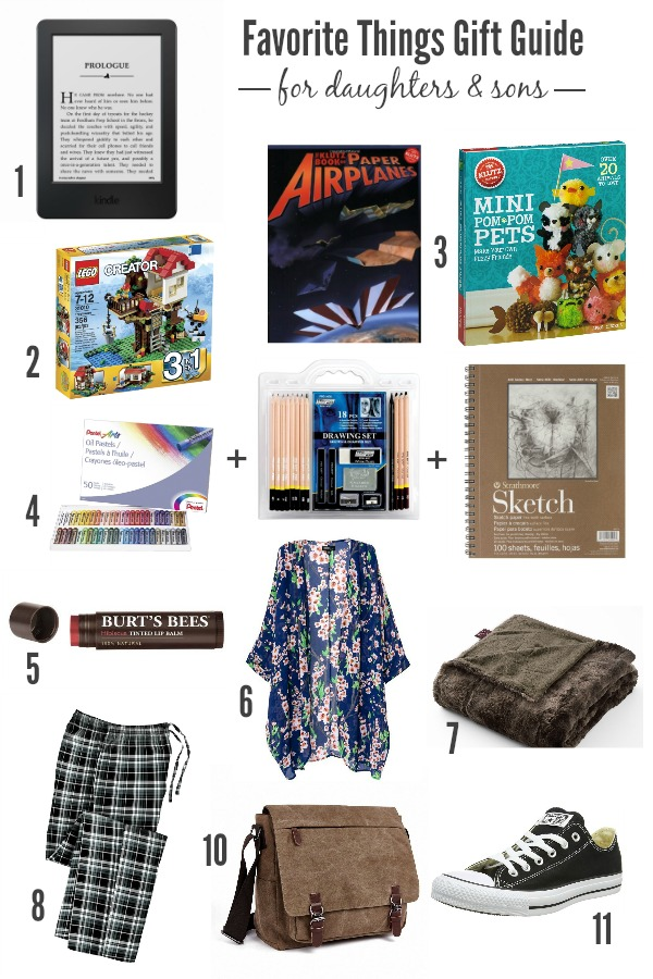 Favorite Things Gift Guide for Daughters and Sons