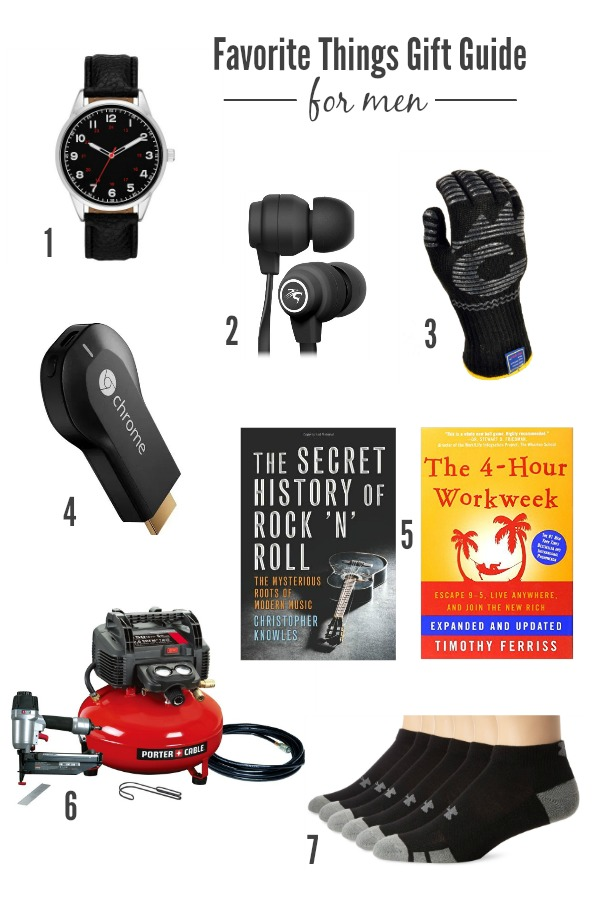Favorite Things Gift Guide for Men