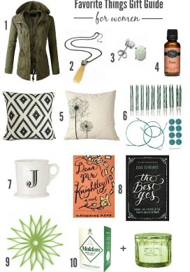 Favorite Things Gift Guide for women