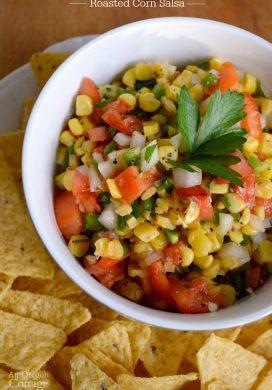 Roasted Corn Salsa appetizer
