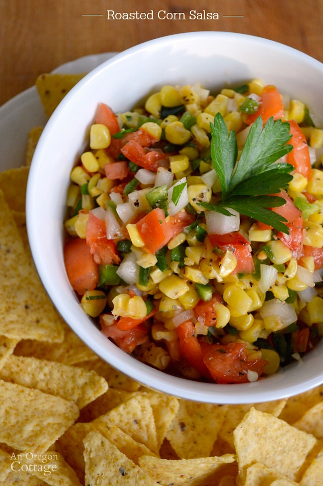 Make a quick & delicious roasted corn salsa in just a few minutes using this perfect technique for roasting frozen corn. It's perfect as an appetizer or topping for salads, tacos and more!