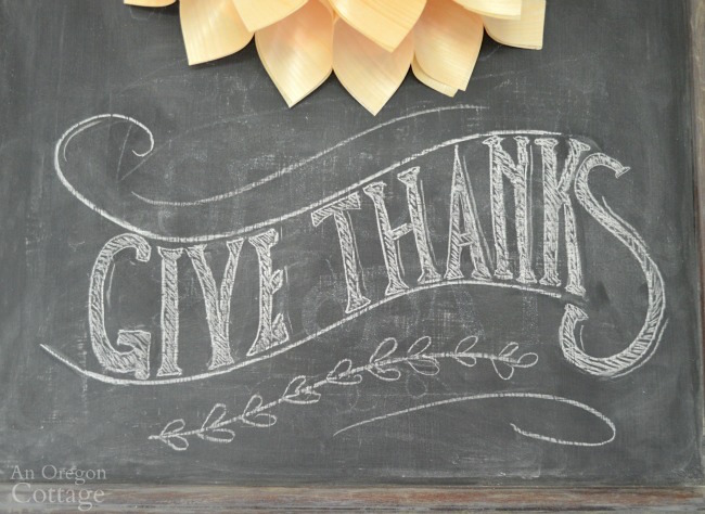 Thanksgiving Chalkboard-Give Thanks font