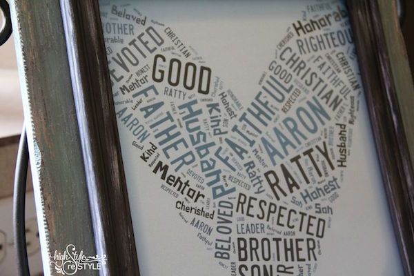 Word art gift via Highstyle Restyle