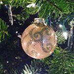 DIY Glittered Christmas Ornament