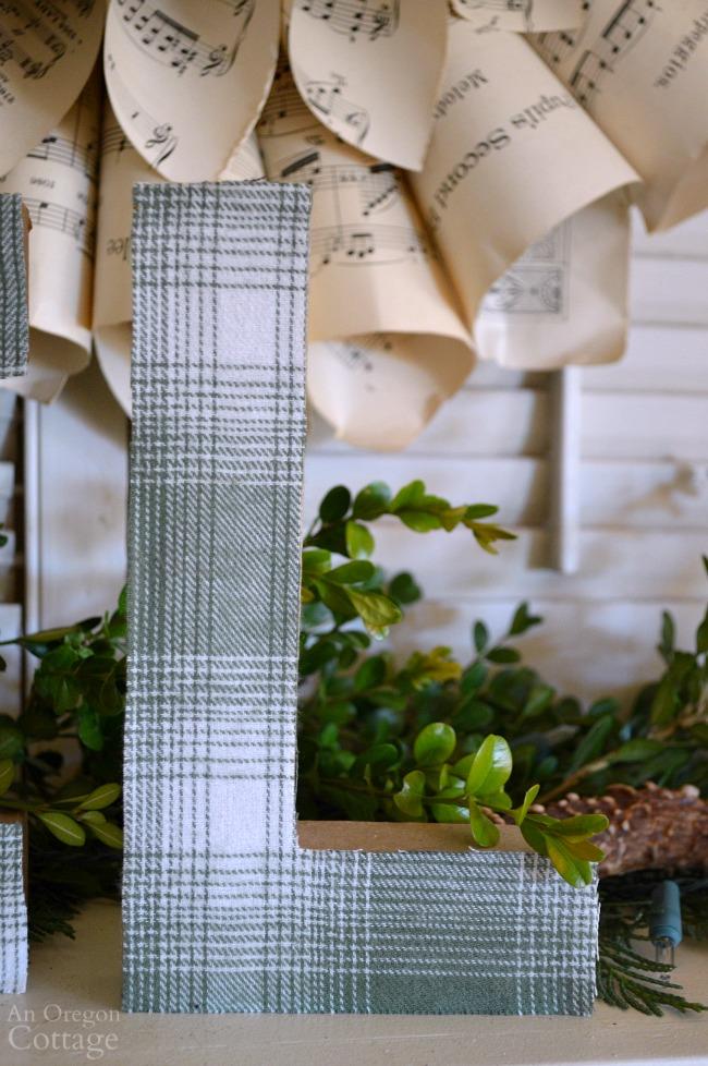 DIY Plaid Paper Mache Letters-L