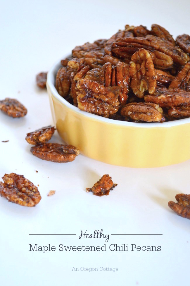 With just 3 real-food ingredients and some spices, these addictive sweet and spicy pecans really are healthy and they're perfect for snacking, parties, salad toppings and more!