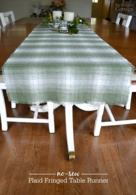 How To Make An Easy No-Sew Fringed Table Runner
