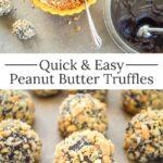 Easy peanut butter truffles pin