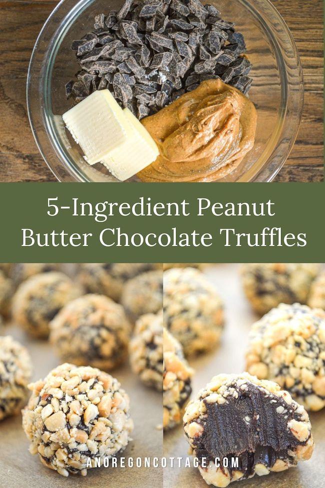 peanut butter chocolate truffles recipe pin