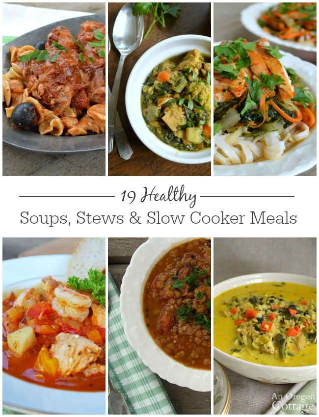 19 Healthy Soups, Stews & Slow Cookers Meals