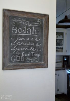Seals Word of the Year Chalkboard