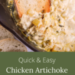 quick easy chicken artichoke skillet dip