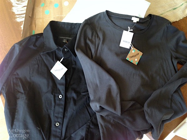 New shipment of shirts from ThredUP