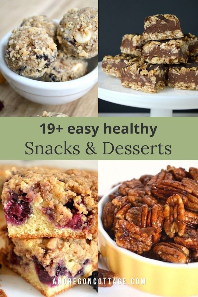 easy healthy snacks-desserts pin