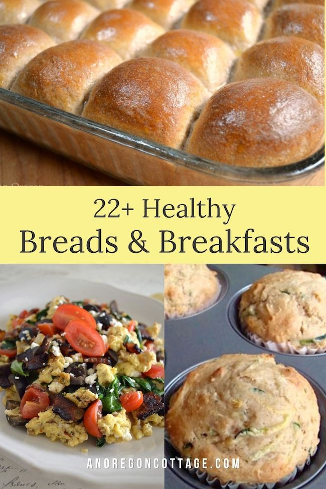 Healthy bread and breakfast recipes featured pin