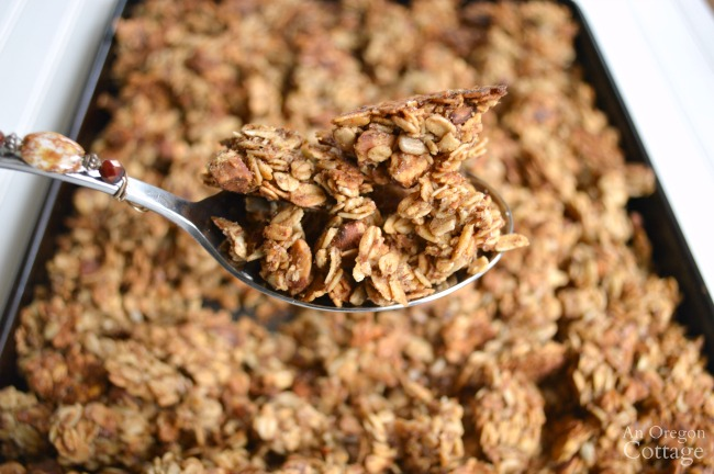 Healthy & Quick Maple-Honey Granola
