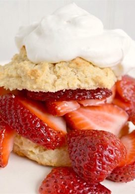 Strawberry Shortcake with Crunchy Drop Biscuits