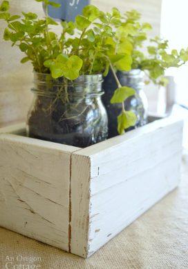 Reclaimed Wood Box Jar Holder -31 Days of Handmade Gifts