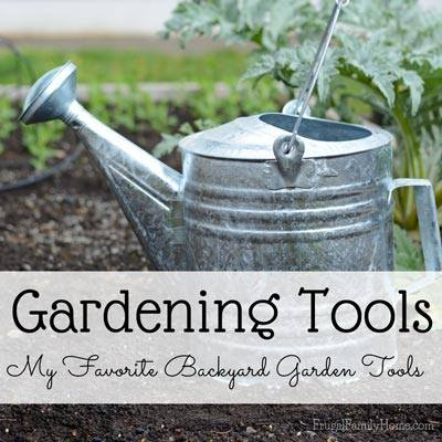 Gardening Tools via Frugal Family Home