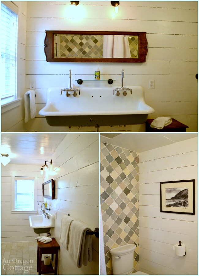 The main floor bath at The Reed House at Manzanita Beach