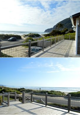 View from the deck at the Reed House at Manzanita Beach