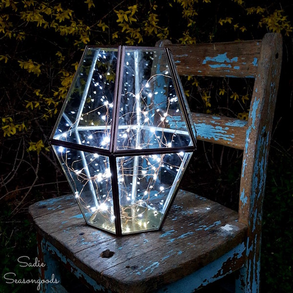 Upcycled garden: Anthropologie Inspired Salvaged Outdoor Lantern