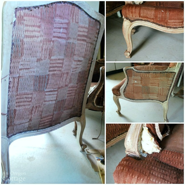 1970s French Chair Makeover Before