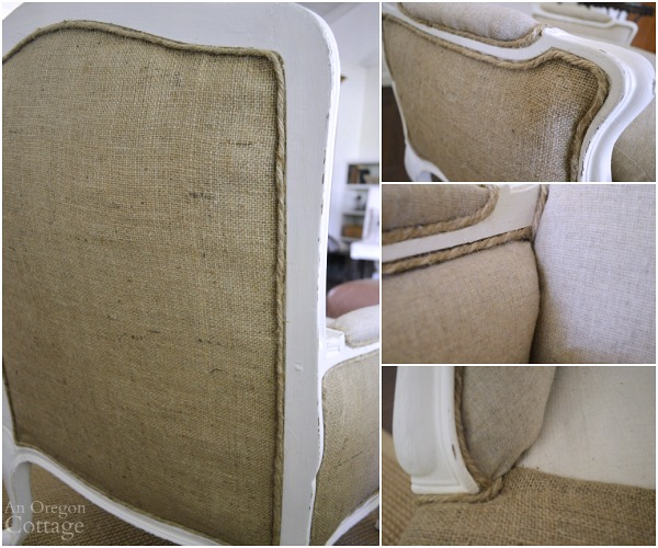 1970s French Chair Makeover-jute cord trim