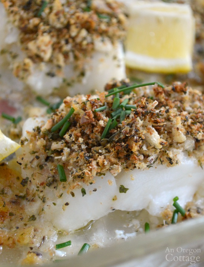 Baked white fish with parmesan herb crust ready in 20 for Baked white fish