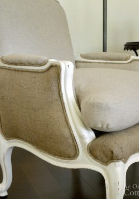 French chair makeover sneak peek