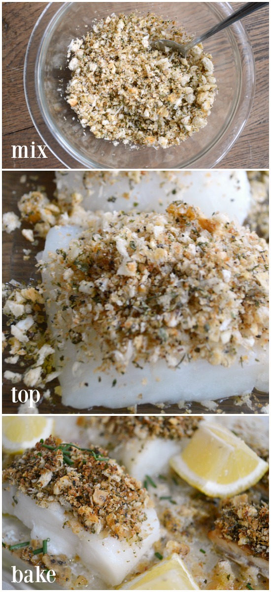 Making Baked White Fish with Parmesan-Herb Crust